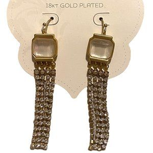 Spartina 449 18 kt Gold-Plated Dangle Earrings NEW